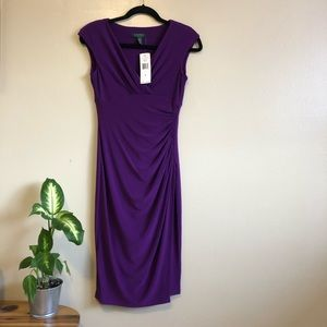 RALPH LAUREN purple cocktail dress